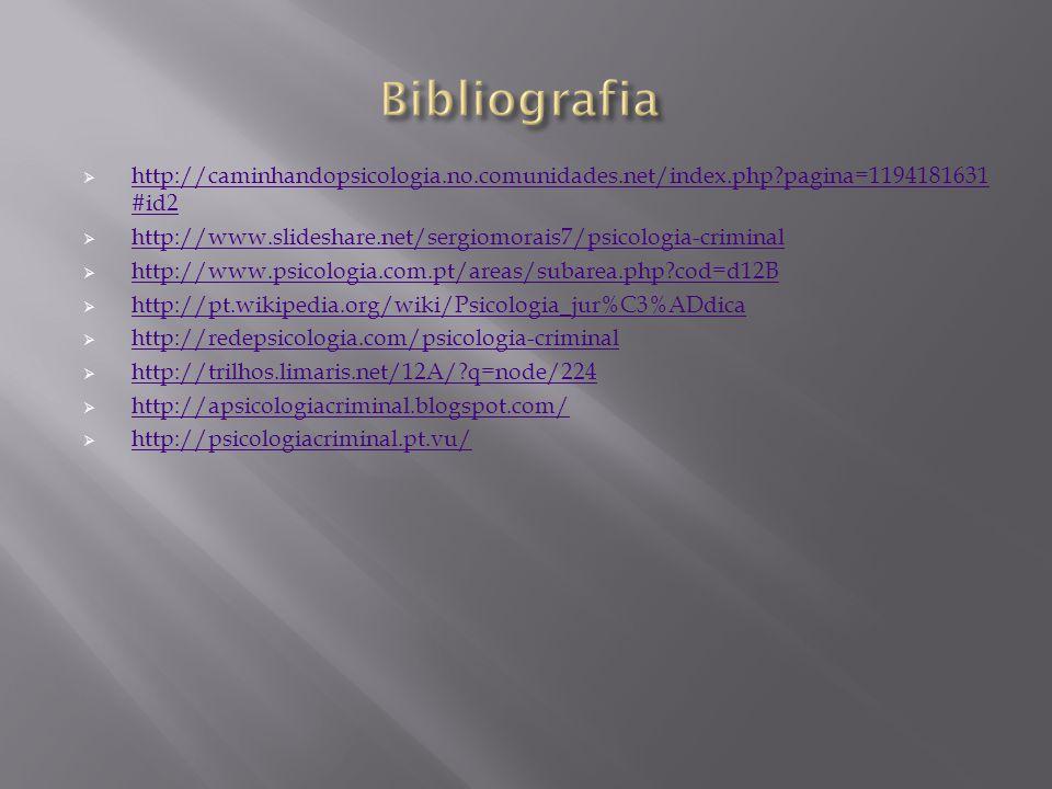 Bibliografia http://caminhandopsicologia.no.comunidades.net/index.php pagina=1194181631#id2.