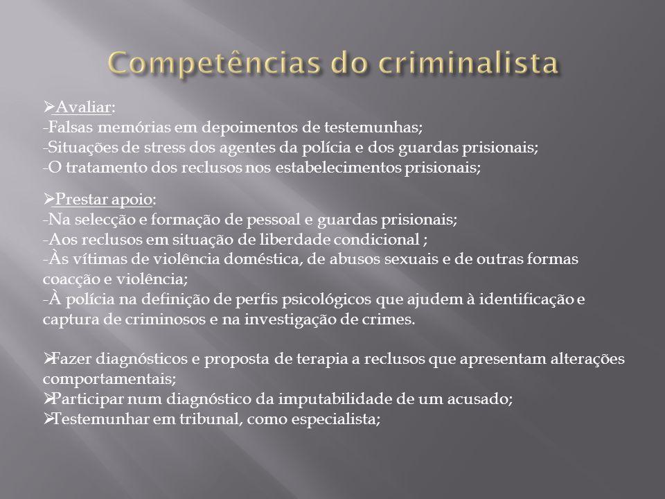 Competências do criminalista