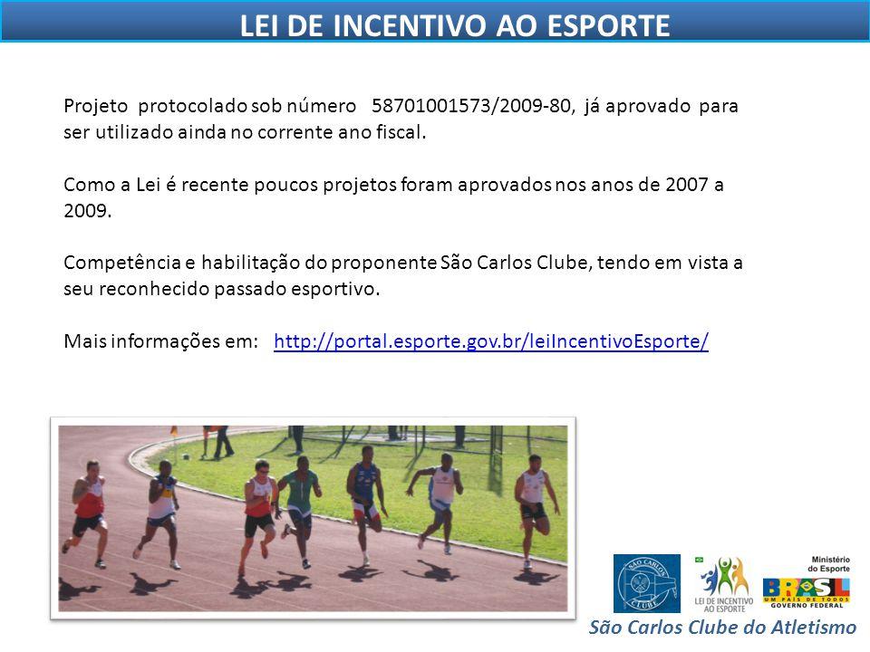 LEI DE INCENTIVO AO ESPORTE São Carlos Clube do Atletismo