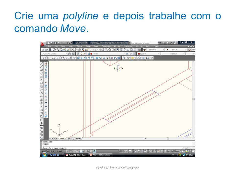 Crie uma polyline e depois trabalhe com o comando Move.