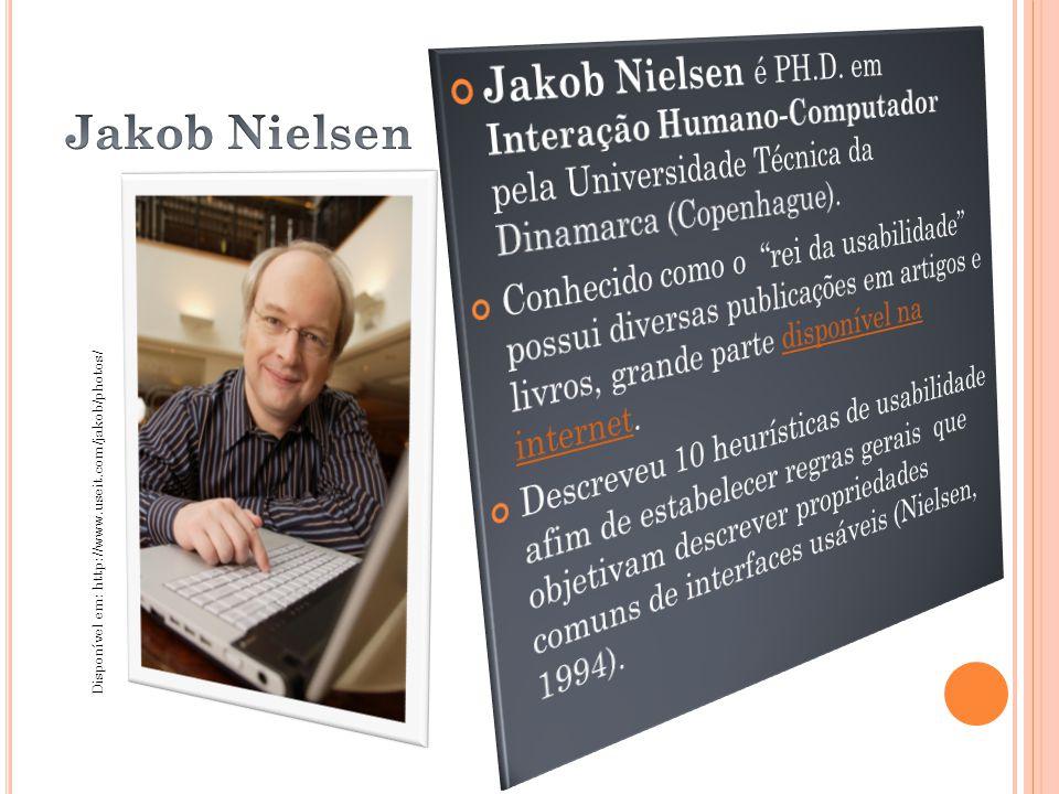 Jakob Nielsen é PH.D. em Interação Humano-Computador pela Universidade Técnica da Dinamarca (Copenhague).