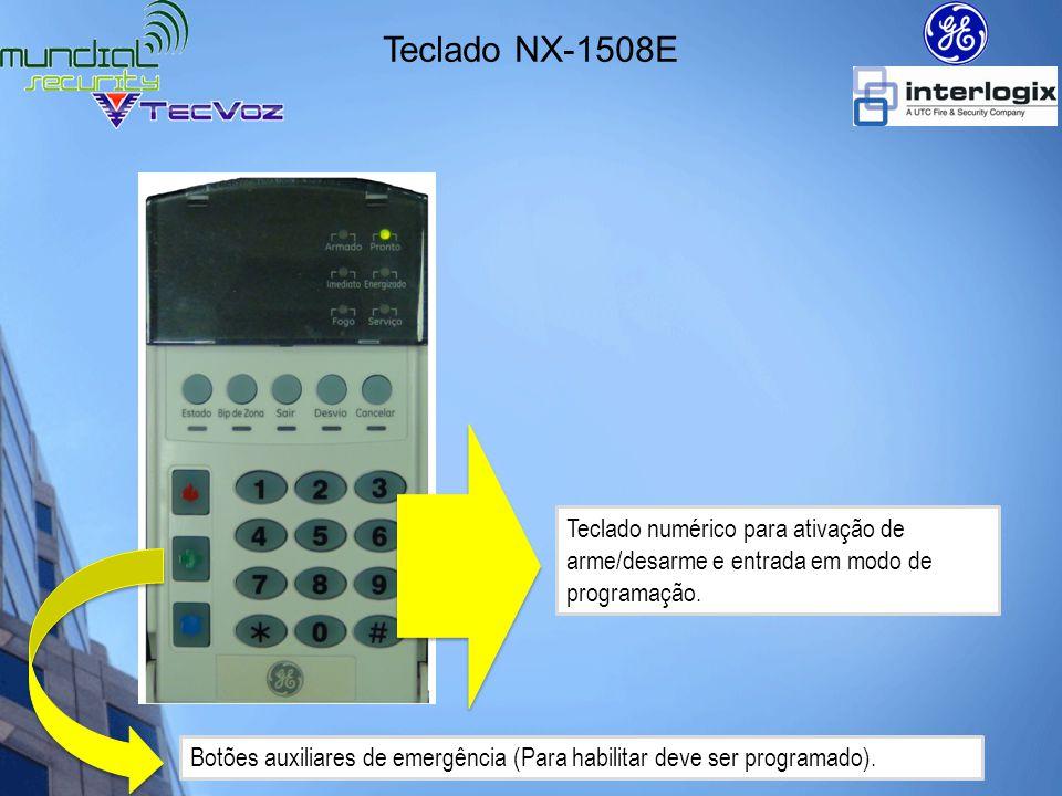 Teclado NX-1508E Teclado numérico para ativação de arme/desarme e entrada em modo de programação.