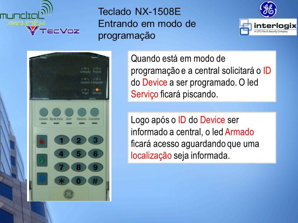 Teclado NX-1508E Entrando em modo de programação.