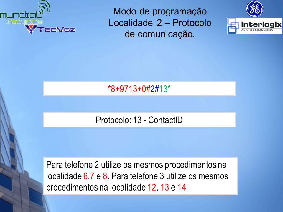 Localidade 2 – Protocolo de comunicação.