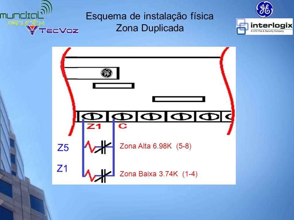 Esquema de instalação física Zona Duplicada