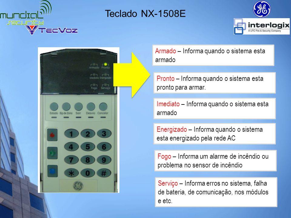 Teclado NX-1508E Armado – Informa quando o sistema esta armado