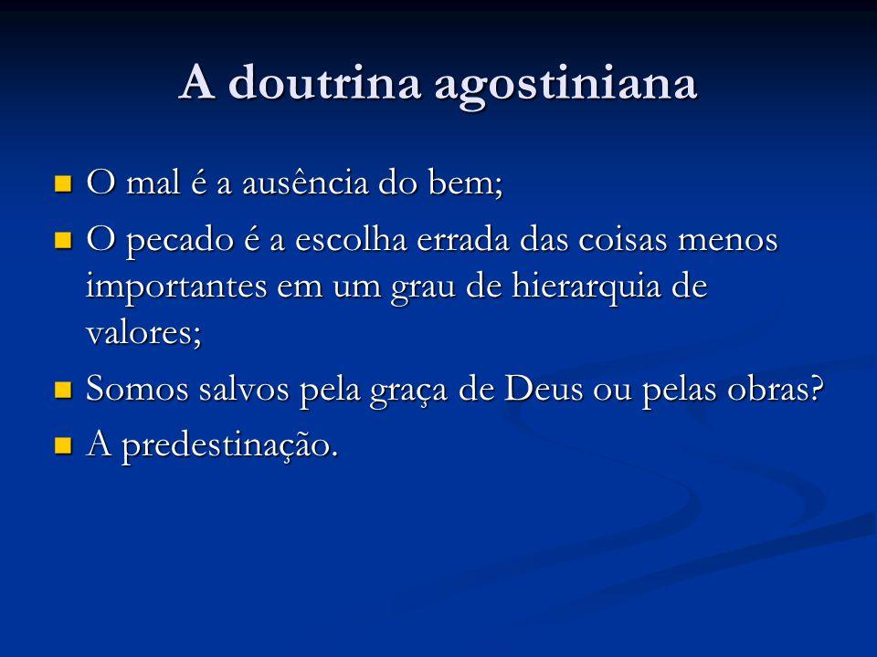 A doutrina agostiniana