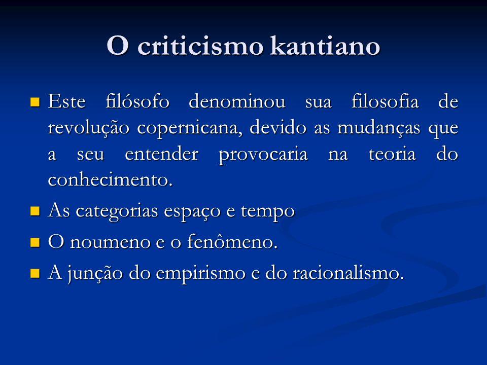 O criticismo kantiano