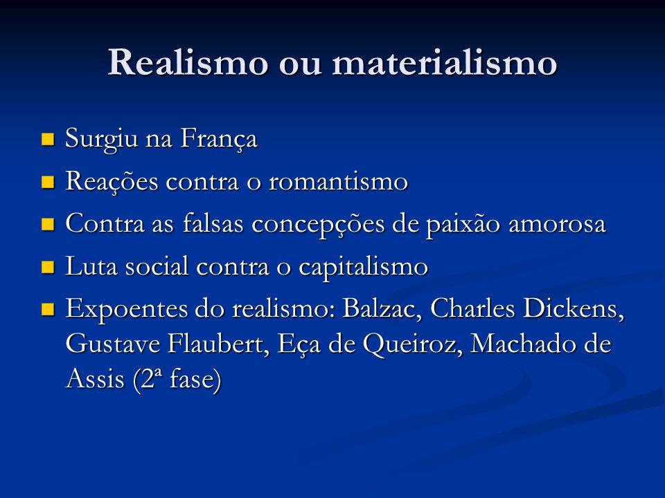Realismo ou materialismo