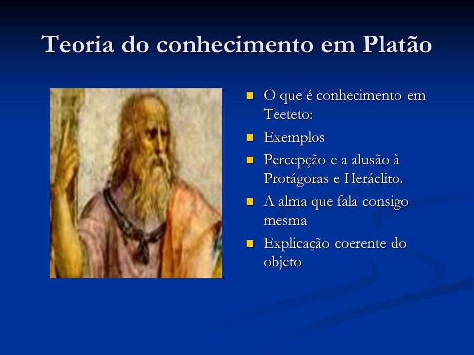 Teoria do conhecimento em Platão