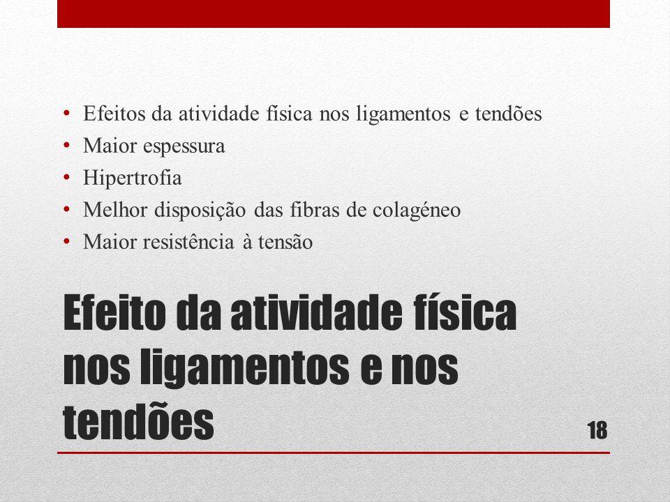 Efeito da atividade física nos ligamentos e nos tendões