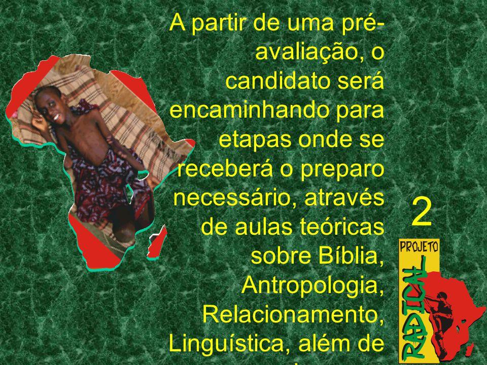 A partir de uma pré-avaliação, o candidato será encaminhando para etapas onde se receberá o preparo necessário, através de aulas teóricas sobre Bíblia, Antropologia, Relacionamento, Linguística, além de se envolver com atividades informais no grupo