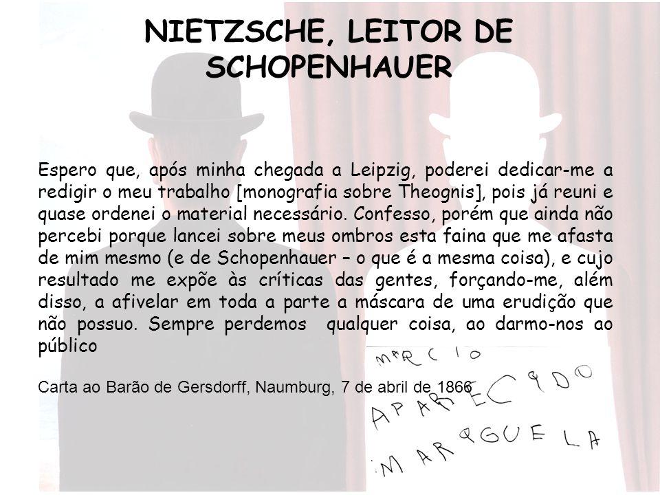 NIETZSCHE, LEITOR DE SCHOPENHAUER
