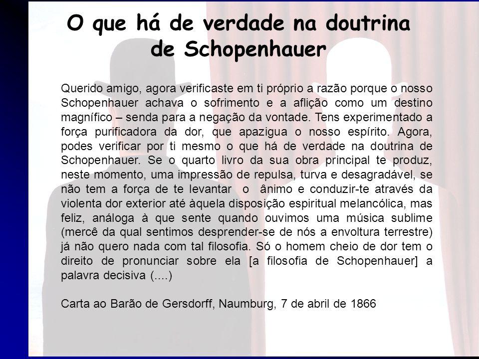 O que há de verdade na doutrina de Schopenhauer