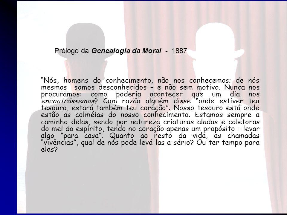 Prólogo da Genealogia da Moral - 1887