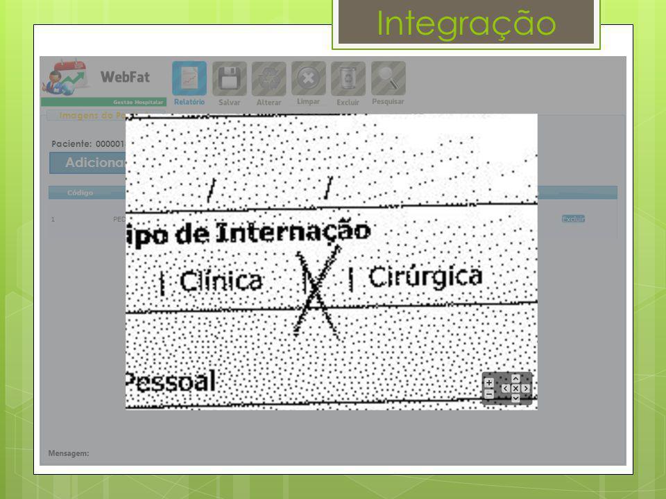 Integração Adicionar Imagens Imagens do Paciente