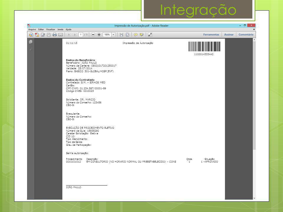 Integração 01/11/13 Impressão de Autorização 1100014333442