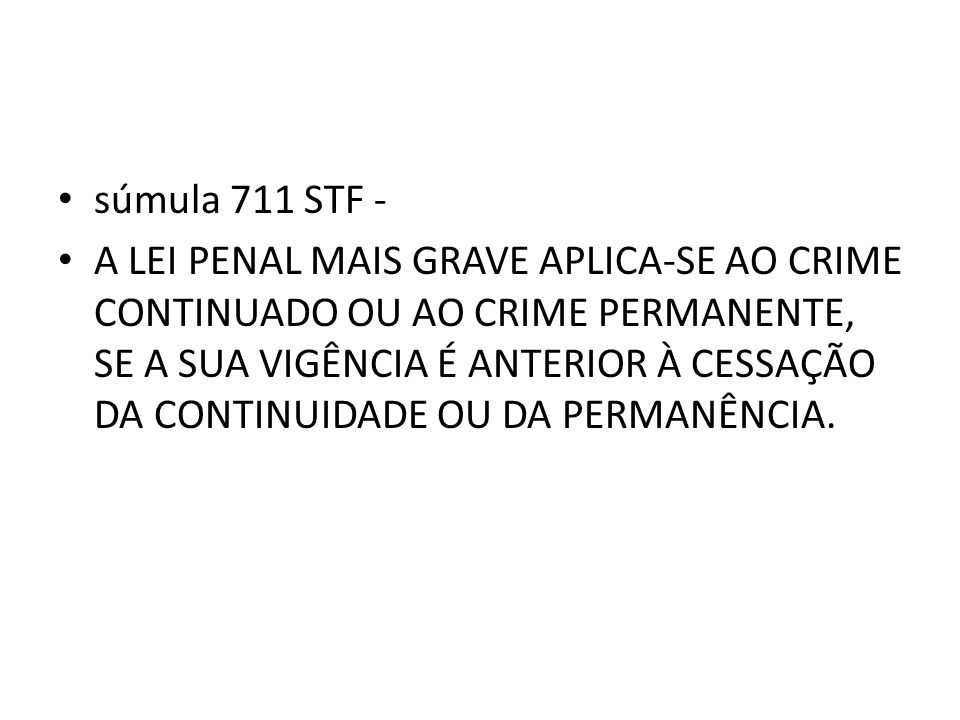 súmula 711 STF -