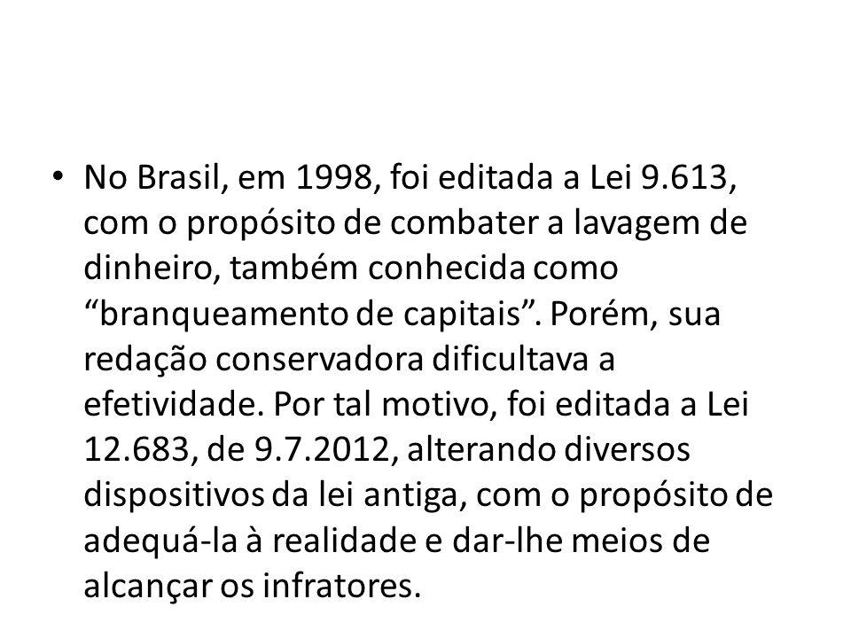 No Brasil, em 1998, foi editada a Lei 9