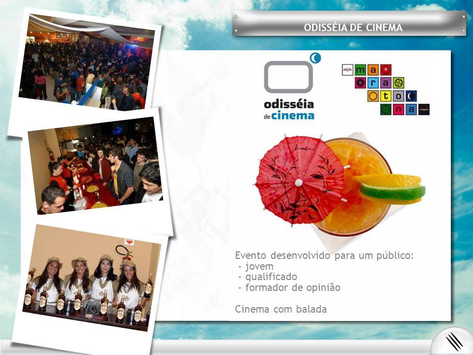 ODISSÉIA DE CINEMA Evento desenvolvido para um público: - jovem. - qualificado. - formador de opinião.