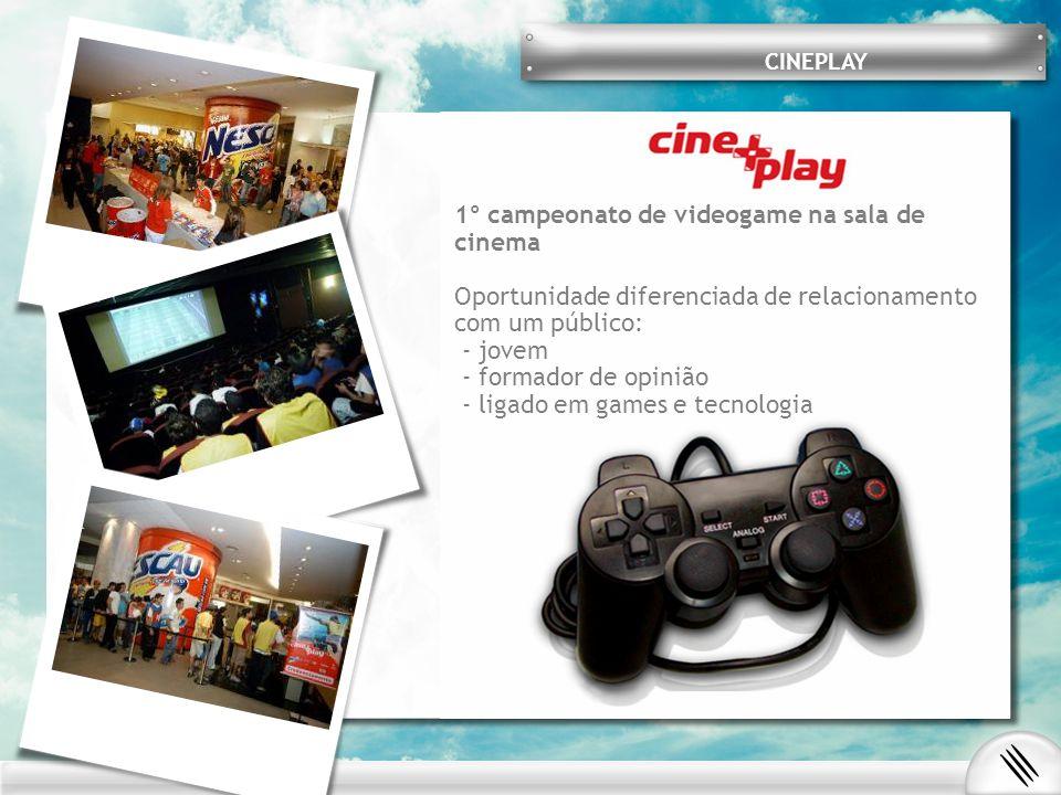1º campeonato de videogame na sala de cinema