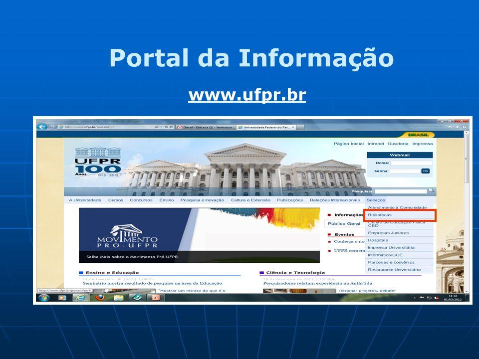 Portal da Informação www.ufpr.br