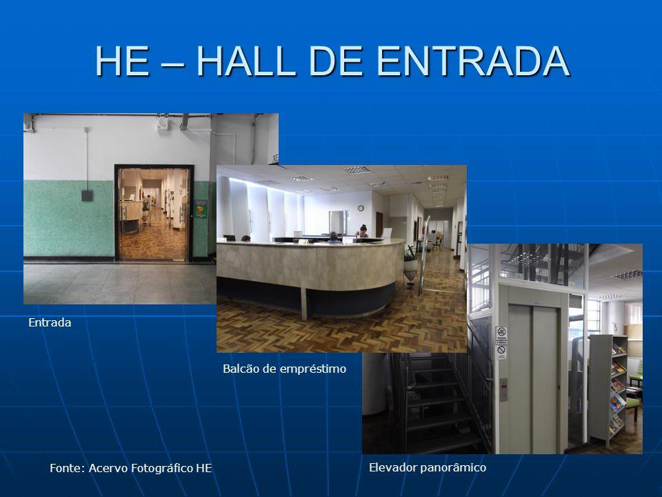 HE – HALL DE ENTRADA Entrada Balcão de empréstimo