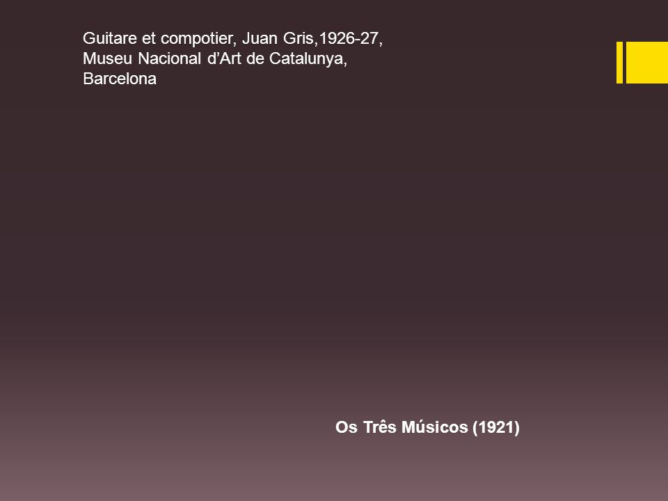 Guitare et compotier, Juan Gris,1926-27, Museu Nacional d'Art de Catalunya, Barcelona