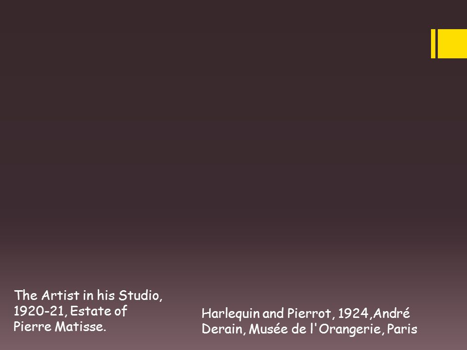 The Artist in his Studio, 1920-21, Estate of Pierre Matisse.