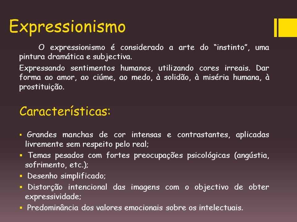Expressionismo Características: