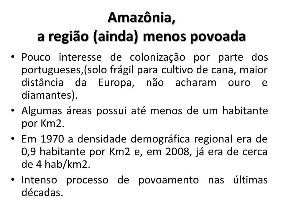 Amazônia, a região (ainda) menos povoada
