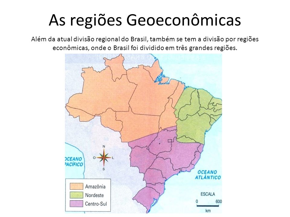 As regiões Geoeconômicas