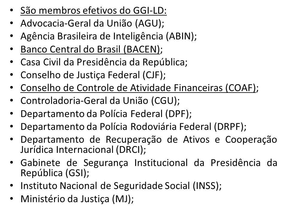 São membros efetivos do GGI-LD: