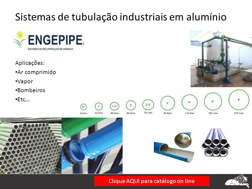 Sistemas de tubulação industriais em alumínio