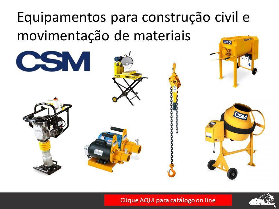 Equipamentos para construção civil e movimentação de materiais