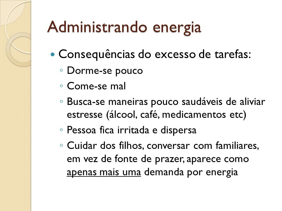 Administrando energia