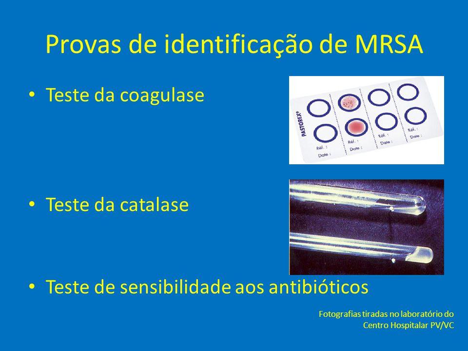 Provas de identificação de MRSA