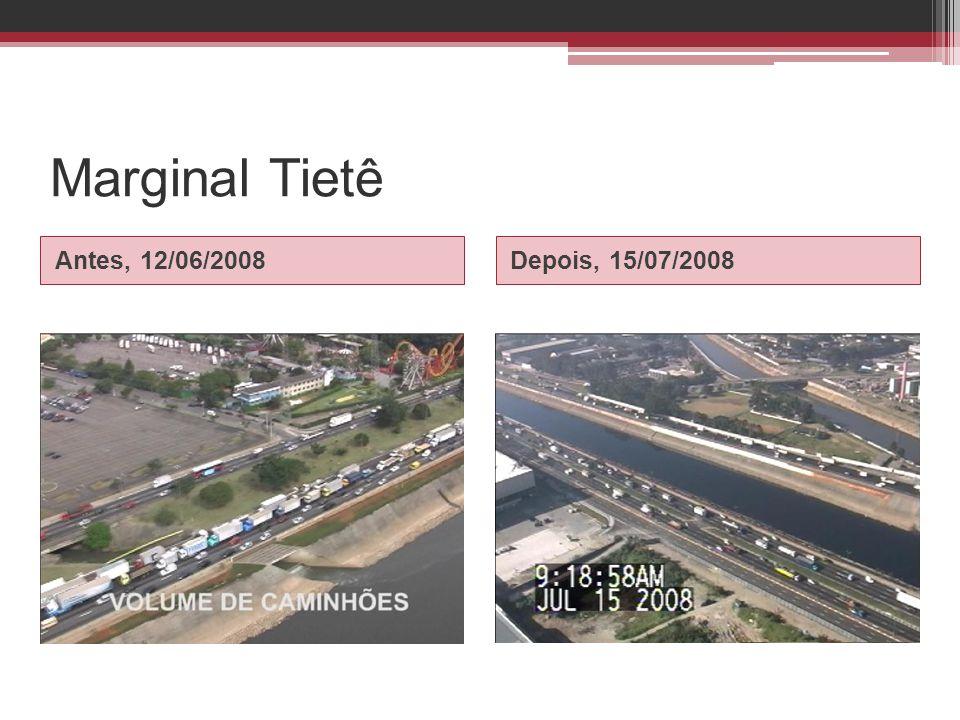 Marginal Tietê Antes, 12/06/2008 Depois, 15/07/2008