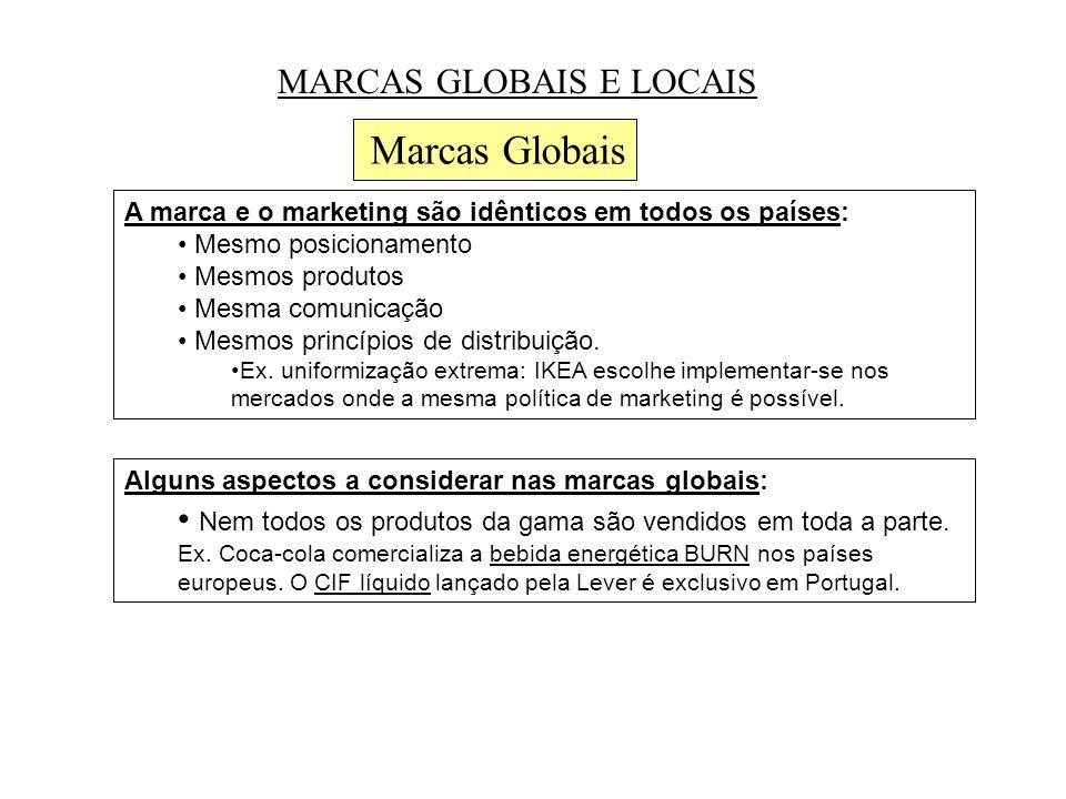 Marcas Globais MARCAS GLOBAIS E LOCAIS