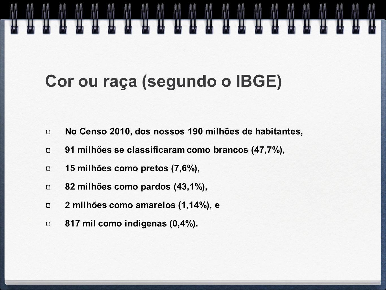 Cor ou raça (segundo o IBGE)