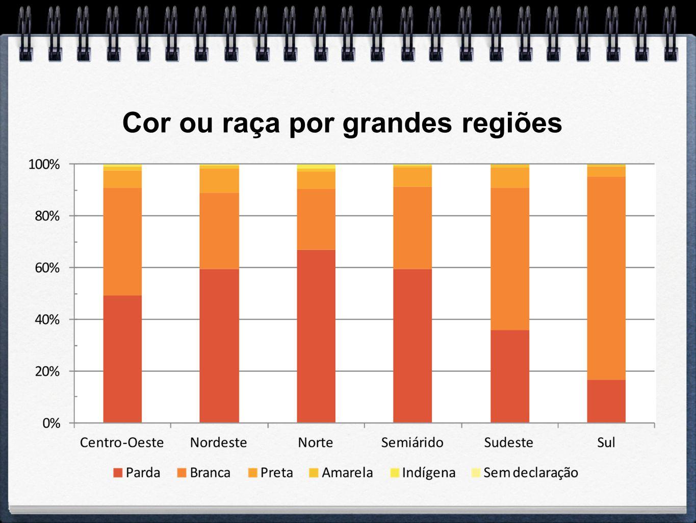 Cor ou raça por grandes regiões