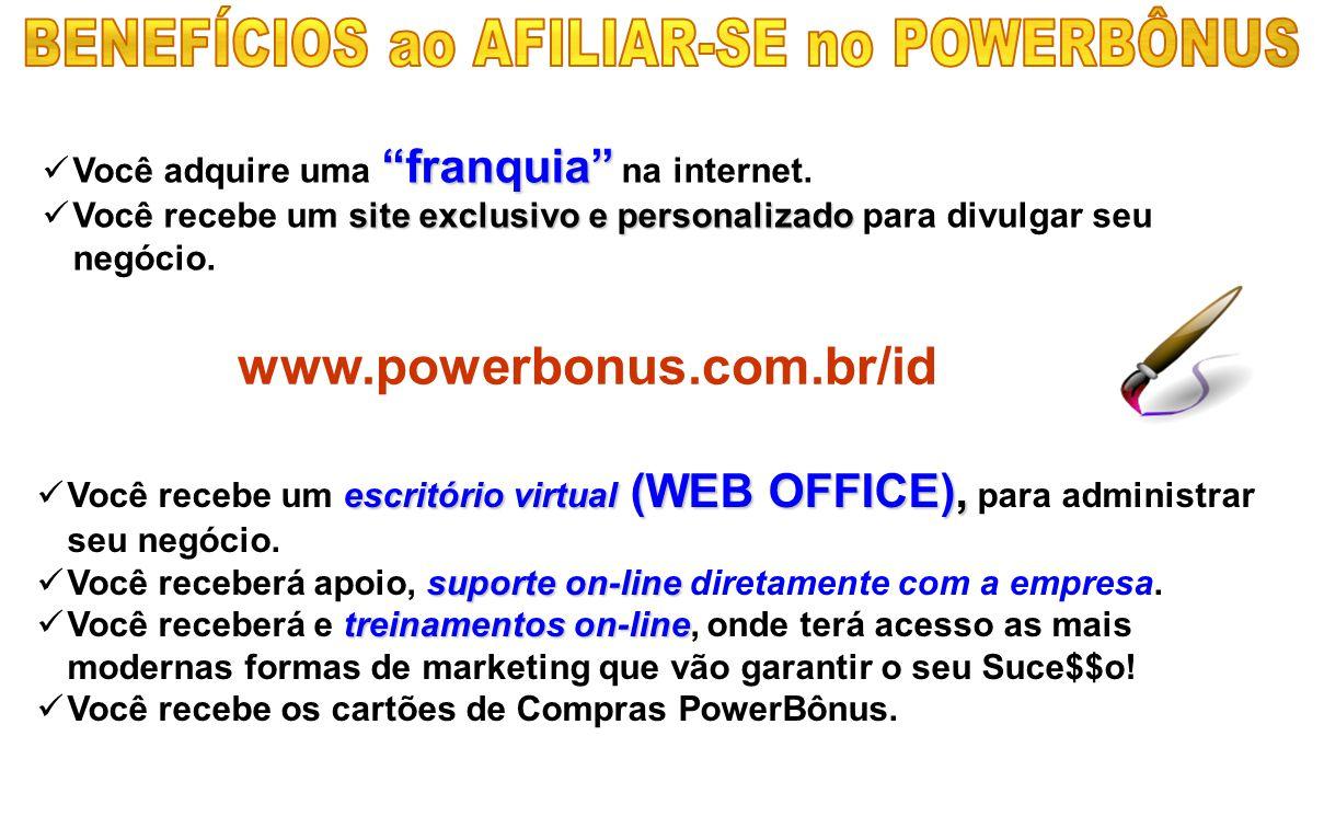 BENEFÍCIOS ao AFILIAR-SE no POWERBÔNUS