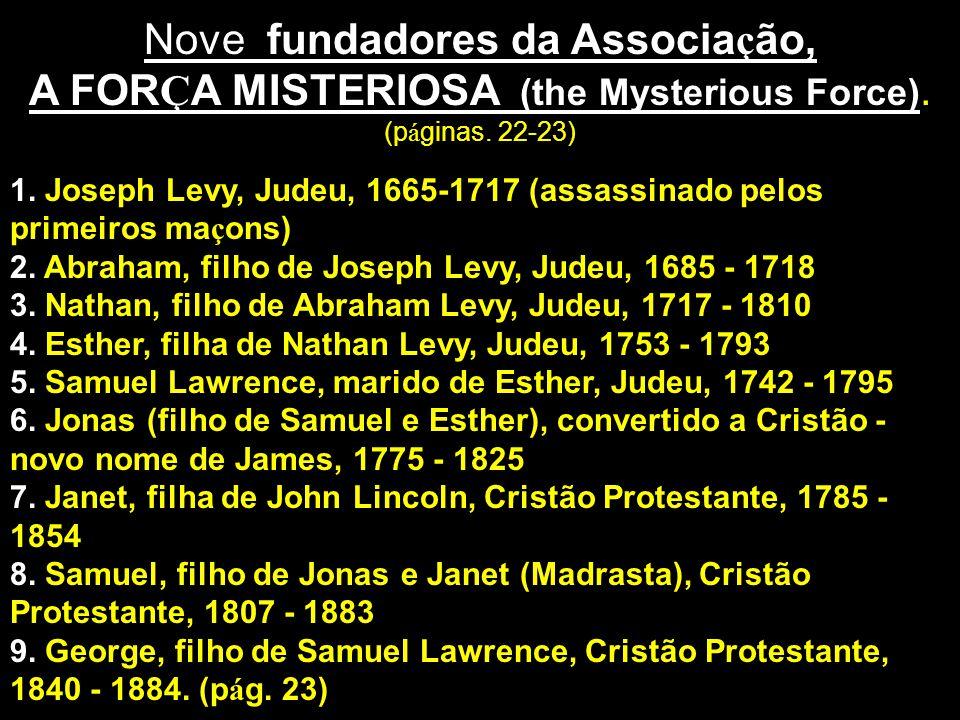 Nove fundadores da Associação,
