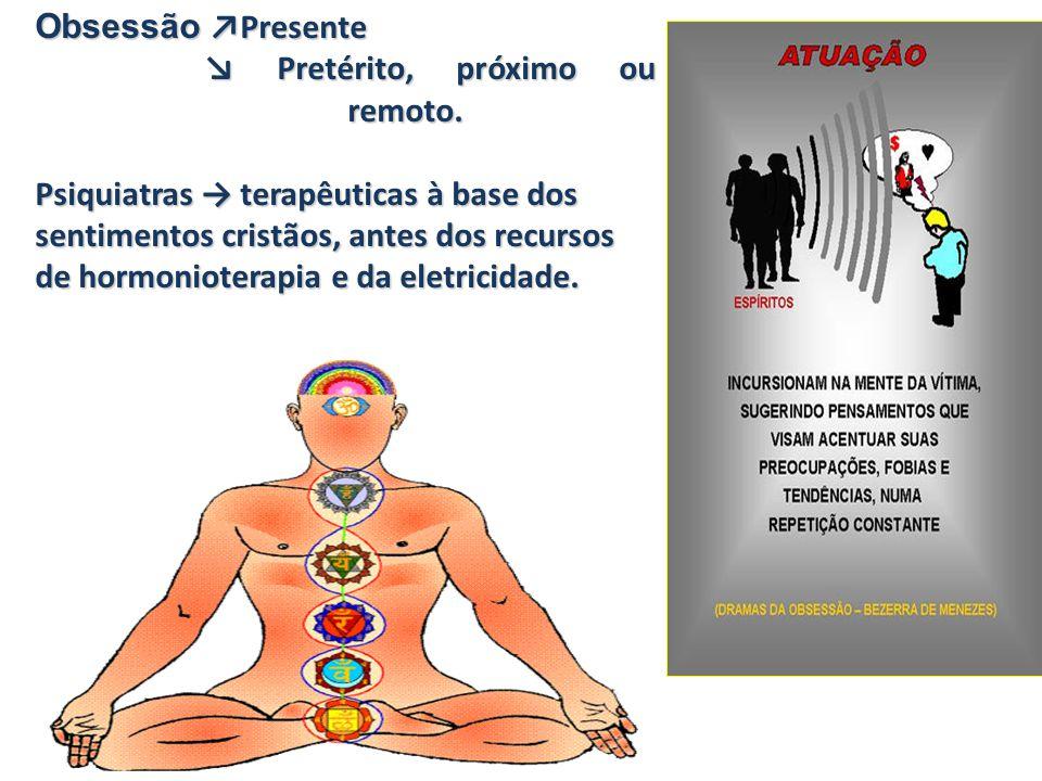Obsessão ↗Presente ↘ Pretérito, próximo ou remoto. Psiquiatras → terapêuticas à base dos.