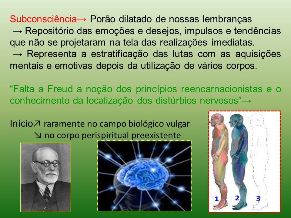 Subconsciência→ Porão dilatado de nossas lembranças