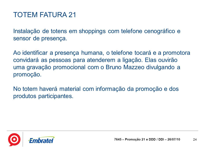 TOTEM FATURA 21 Instalação de totens em shoppings com telefone cenográfico e sensor de presença.