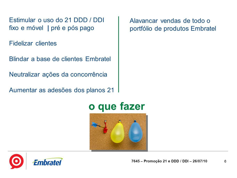 o que fazer Estimular o uso do 21 DDD / DDI