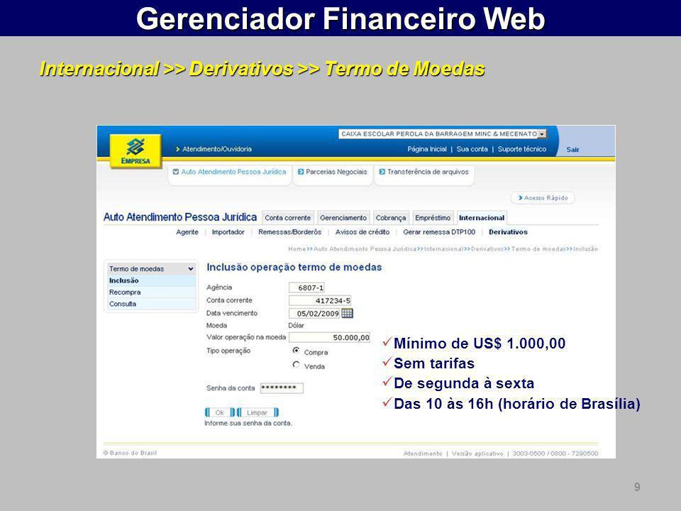 Gerenciador Financeiro Web