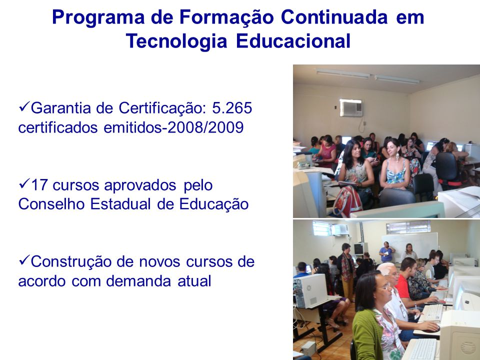 Programa de Formação Continuada em Tecnologia Educacional