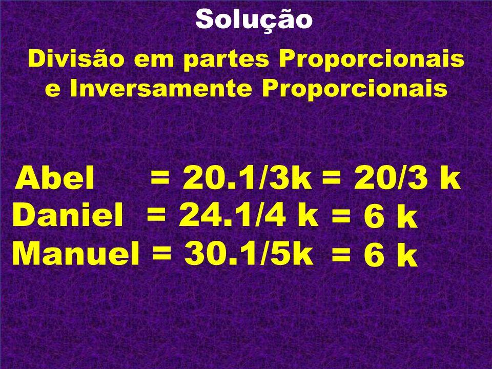 Divisão em partes Proporcionais e Inversamente Proporcionais